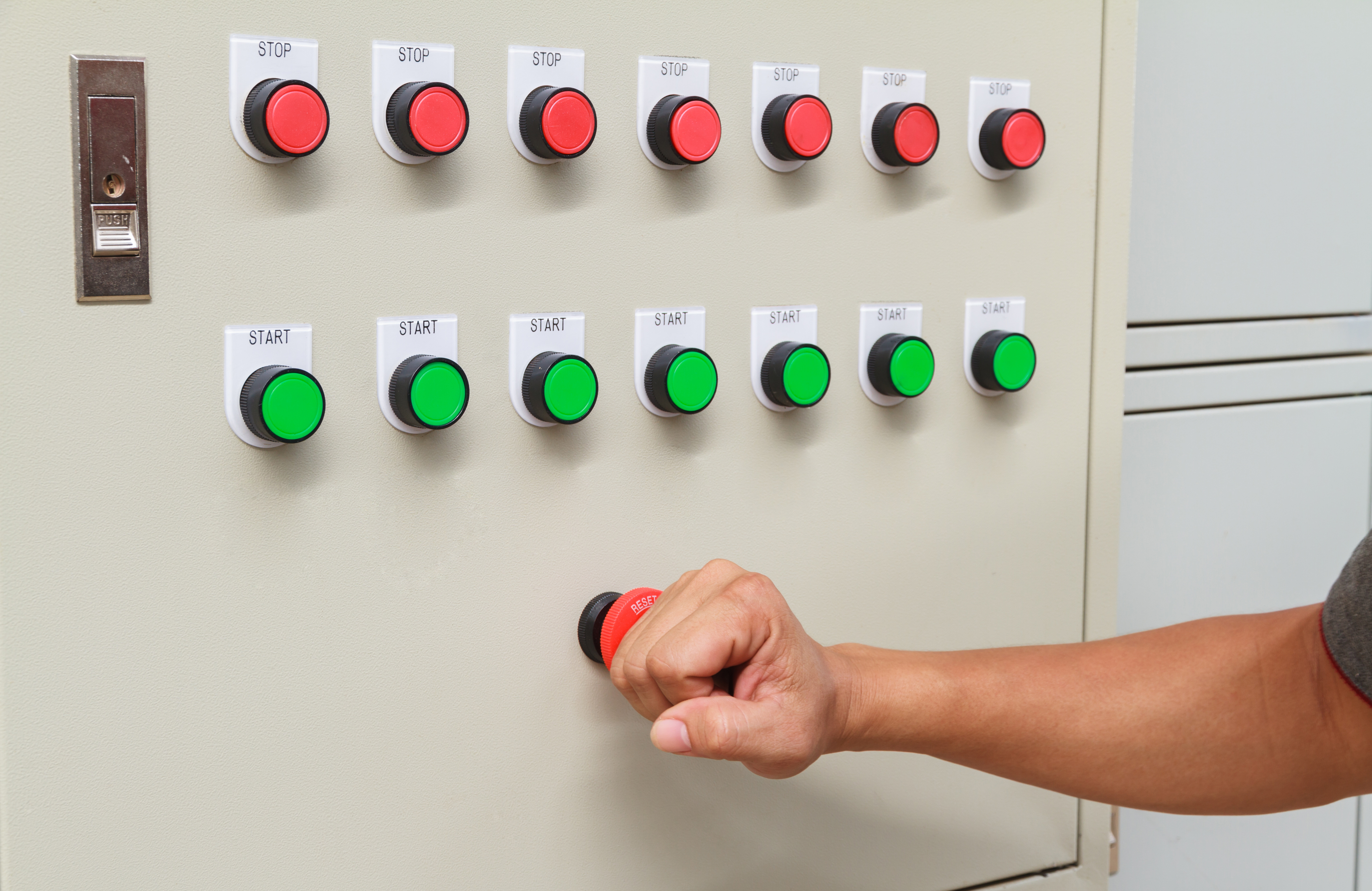 control panel electric installation